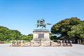 Samurai the statue of kusunoki masashige a famed japanese near the imperial palace in tokyo japan Stock Photo
