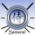 Samurai symbol isolated and swords Stock Photography