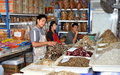Samut Songkhram, Thailand: Fish Sellers at Market Stock Photos