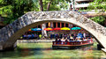 San Antonio Riverwalk bridges Stock Image