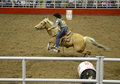 San antonio rodeo woman on a horse in the february Stock Photos