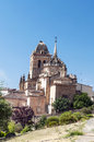 San bartolome church located in the spanish town of jerez de los caballeros is baroque it is a sunny day it s a vertical picture Royalty Free Stock Images