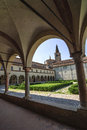 San Benedetto Po - Cloister of the abbey Royalty Free Stock Photo