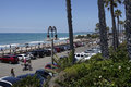 San Clemente California beach and train tracks Royalty Free Stock Photo