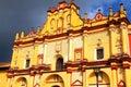 San cristobal de las casas cathedral in chiapas II Royalty Free Stock Photo