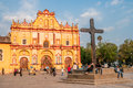 San cristobal de las casas cathedral of mexico Royalty Free Stock Image