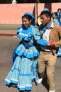 San cristobal de las casas mexico december couple in traditional dress from durango state dancing outdoors Stock Photography