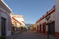 San cristobal de las casas mexico november on november mexico pedestrian street in town located in the Royalty Free Stock Image