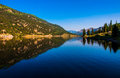 San cristobal lake reflections colorado bliss mirror and brings the life to the high altitude rocky mountains Royalty Free Stock Image