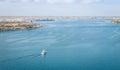 San Diego Bay from Coronado Bridge Royalty Free Stock Photo