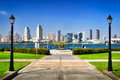 San Diego city view from the park Royalty Free Stock Photo