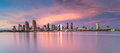 San diego cityscape during sunset Stock Photography