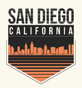 San Diego graphic, t-shirt design, tee print, typography, emblem
