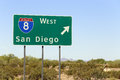 San diego an interstate highway sign points the way to california Stock Images