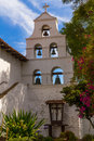 San diego mission bell tower the at the historic spanish in california Royalty Free Stock Image