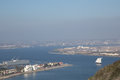 San Diego and the Naval Air base from Point Loma in California Royalty Free Stock Photo