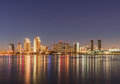 San Diego skyline at night Royalty Free Stock Photo