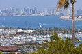 San Diego skyline from Point Loma island California. Royalty Free Stock Photo
