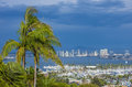 San diego skyline seen from point loma Stock Image