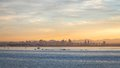 San Diego Skyline Sunrise Royalty Free Stock Photos