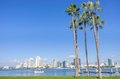 San diego skyline view from coronado island Stock Images