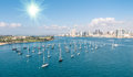 San diego skyline and waterfront daytime Royalty Free Stock Photos