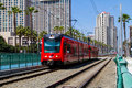 San Diego Trolley Royalty Free Stock Photo