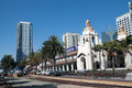 SAN DIEGO, USA - AUGUST 30: train arrives at Union Royalty Free Stock Photo