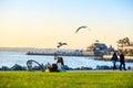 San Diego Waterfront Public Park, Marina and the San Diego Skyline. California, United States. Royalty Free Stock Photo