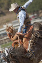 San Dimas Rodeo Saddle Bronc Royalty Free Stock Photo