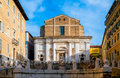 San domenico church in piazza del plebiscito ancona italy Stock Photo
