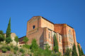 San domenico church siena italy photo of the uphill cathedral withit s specific red bricked walls Stock Photography