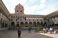 San domenico cloister the of the historic monastery of at cuzco in peru Stock Photos
