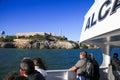 San Francisco Alcatraz Island from Tour Boat Royalty Free Stock Photo