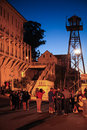 San Francisco Alcatraz Night Tour Group Royalty Free Stock Photo