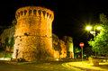 San francisco bastion san gimignano tuscany night at near giovanny entrance in landmark of italy Stock Image