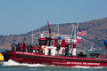San francisco ca august close up of the phoenix fire boat and its visitors in bay during final Royalty Free Stock Photography