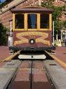 San Francisco Cable Car at California Street Terminus Royalty Free Stock Photo