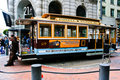 San Francisco Cable Car at Powell Terminal Stock Photography
