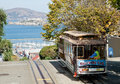 San francisco cable car tram november nd the november nd in usa the system is world last Royalty Free Stock Images