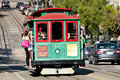 San francisco cable car tram november nd the november nd in usa the system is world last Royalty Free Stock Photography
