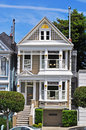 San Francisco, Painted Ladies, public monument, architecture, victorian, house, California, United States, Alamo Square Royalty Free Stock Photo