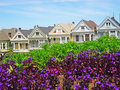 San Francisco, Painted Ladies, architecture, victorian house, California, United States of America, Usa, Alamo Square Royalty Free Stock Photo