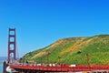 San Francisco, Golden Gate, bridge, skyline, California, United States of America, Usa, traffic Royalty Free Stock Photo