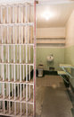 San Francisco, California, United States - April 30, 2017: Prisoner`s cell of Alcatraz prison in Alcatraz Island. Royalty Free Stock Photo