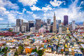 San Francisco, California, USA Skyline Royalty Free Stock Photo