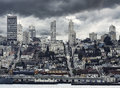 San Francisco City Downtown in rainy day, California Royalty Free Stock Photo