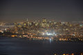 San francisco city at night usa skyline california Royalty Free Stock Photography