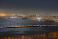 San francisco city at night usa skyline california Stock Images