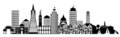 San Francisco City Skyline Panorama Clip Art Stock Image